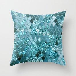 Mermaid Glitter Scales #4 #shiny #decor #art #society6 Throw Pillow