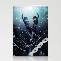 persona Stationery Cards featuring Persona 3 Protagonists by Creativelea