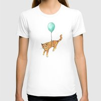 baloon T-shirts featuring The cat and the baloon by Nemimakeit