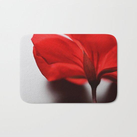 Scarlet Petals Bath Mat