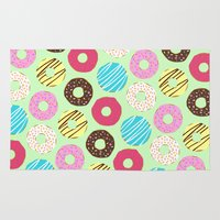donut Area & Throw Rugs featuring Donut by Charlotte Lucy