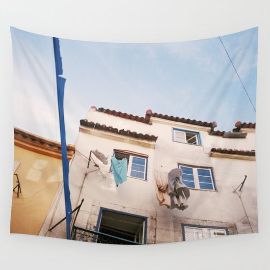 In the streets of Lisbon Wall Tapestry