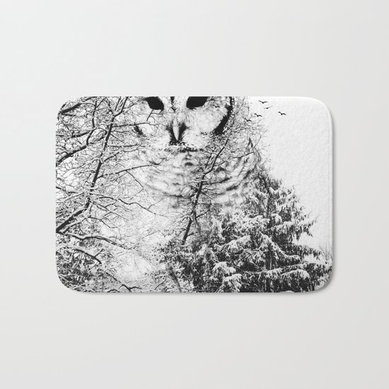 Winter Owl Bath Mat