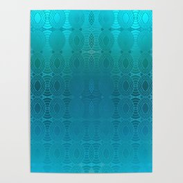 Bead Curtain (blue) Poster