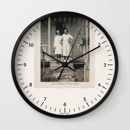 Les soeurs Bisson, Thérèse et Alice - The sisters Bisson, Therese et Alice Wall Clock