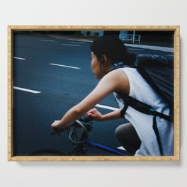 Tokyo Bicyclist Serving Tray