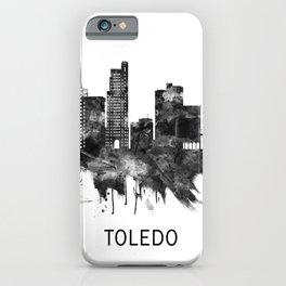Toledo Ohio Skyline BW iPhone Case