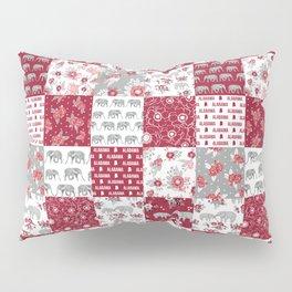 Alabama bama crimson tide quilt pattern florals football varsity alumni Pillow Sham