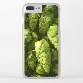 Fresh Cascade Hops Clear iPhone Case