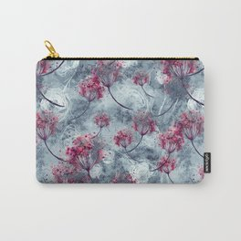 Vintage seamless watercolor pattern of plants. Herbs, flowers, dried flowers, branch, flowers watercolor. abstract splash of paint. Dried flowers, dandelion, poppy, rose, lavender, leaves, bird cherry Carry-All Pouch