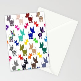 colorful chihuahuas on parade  Stationery Cards