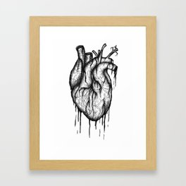 Bleeding Heart - A3 Ink illustration Framed Art Print