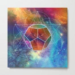 Abstract Sacred Geometry Cosmic Space Tapestry Metal Print