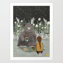 TEA BEAR Art Print