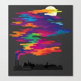 Hidden in the Smog (Night) Canvas Print