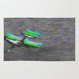 shifted 3d plane Rug