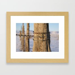 Fence Post Framed Art Print