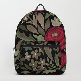 Watercolor . Night garden . Backpack