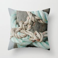 TIED TO THE MOORING #1 Throw Pillow