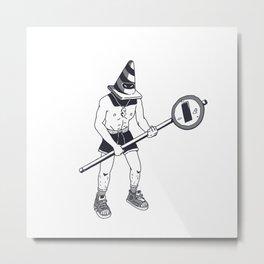 Traffic Warrior Street Style Ink Drawing Metal Print