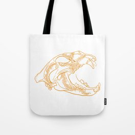 Lion skull with floral ornament Tote Bag
