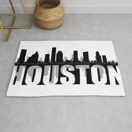 Houston Silhouette Skyline Rug