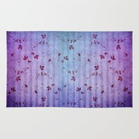 floral pattern Area & Throw Rugs featuring FLORAL PATTERN by INA FineArt