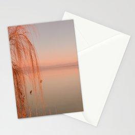 Autumn Lake Sunset Stationery Cards