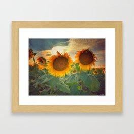 favorite sunset view Framed Art Print