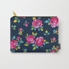 Raspberry Roses Carry-All Pouch