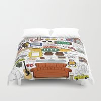 collage Duvet Covers featuring Collage by Loverly Prints