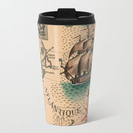 Atlantique Vintage Map design Travel Mug
