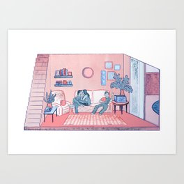 The Lounge Art Print