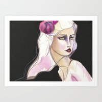 jane davenport Art Prints featuring Green Eyed by Jane Davenport by Jane Davenport