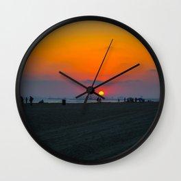 Lovely sunset Wall Clock