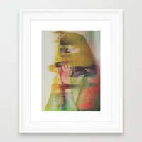 glitch Framed Art Prints featuring Glitch by Andreas Lie