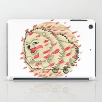 pomeranian iPad Cases featuring Pomeranian in Autumn by Jack Haughey