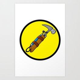 Captain Hammer Time (Logo) Art Print