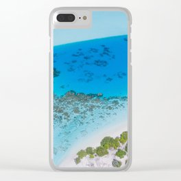 Tropical Caribbean Ocean Clear iPhone Case