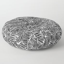 Minimalist Black And White Pattern Floor Pillow
