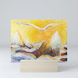 Flight Over the Mountains Mini Art Print