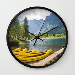 Bled lake, Slovenia Wall Clock