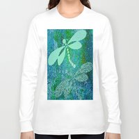 dragonfly Long Sleeve T-shirts featuring Dragonfly  by Saundra Myles