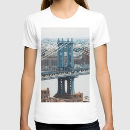 Manhattan Bridge on a cloudy afternoon T-shirt