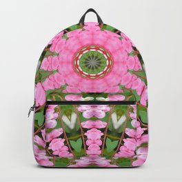 Bleeding heart, Floral mandala-style, Flower Mandala Backpack