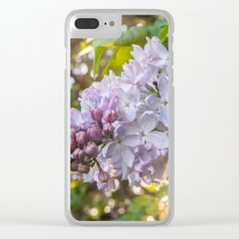 Spring Lilacs Clear iPhone Case