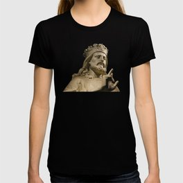 Crowned Statue Has Something to Say T-shirt