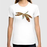 dragonfly T-shirts featuring Dragonfly by Tim Jeffs Art