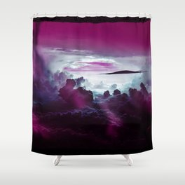 I Want To Believe -Pink Shower Curtain