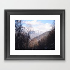 Laurel Falls Trail Framed Art Print